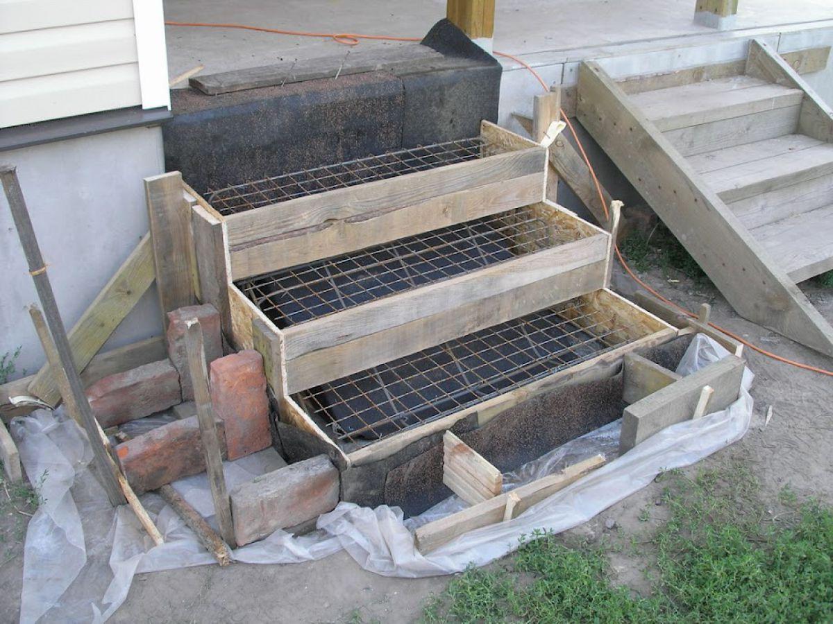 Как построить крыльцо из бетона своими руками пошаговая инструкция с