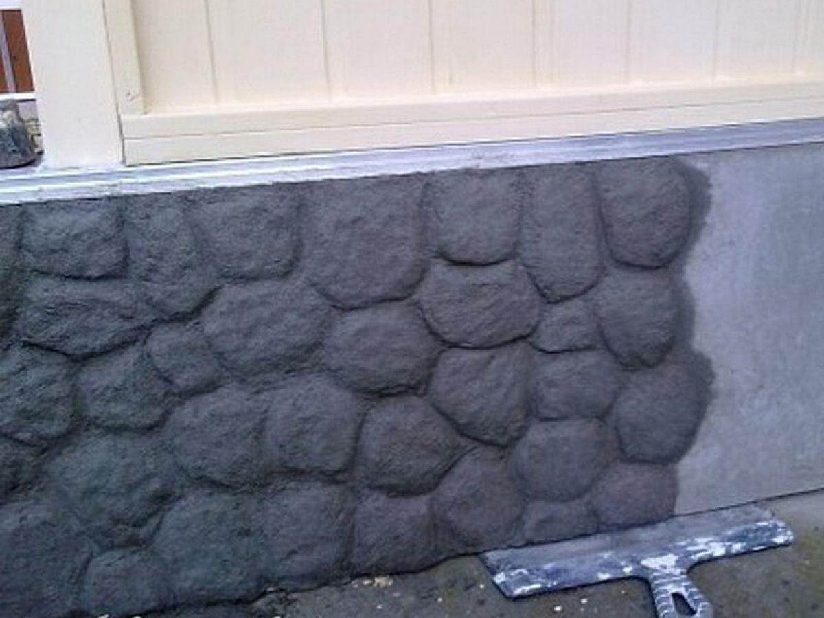 Цоколь из бетона под камень своими руками