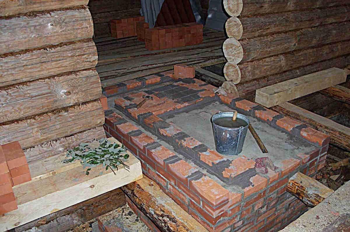 Фундамент для железной печи в баню своими руками 85