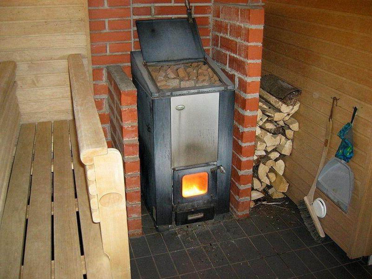Печка железная для бани своими руками из