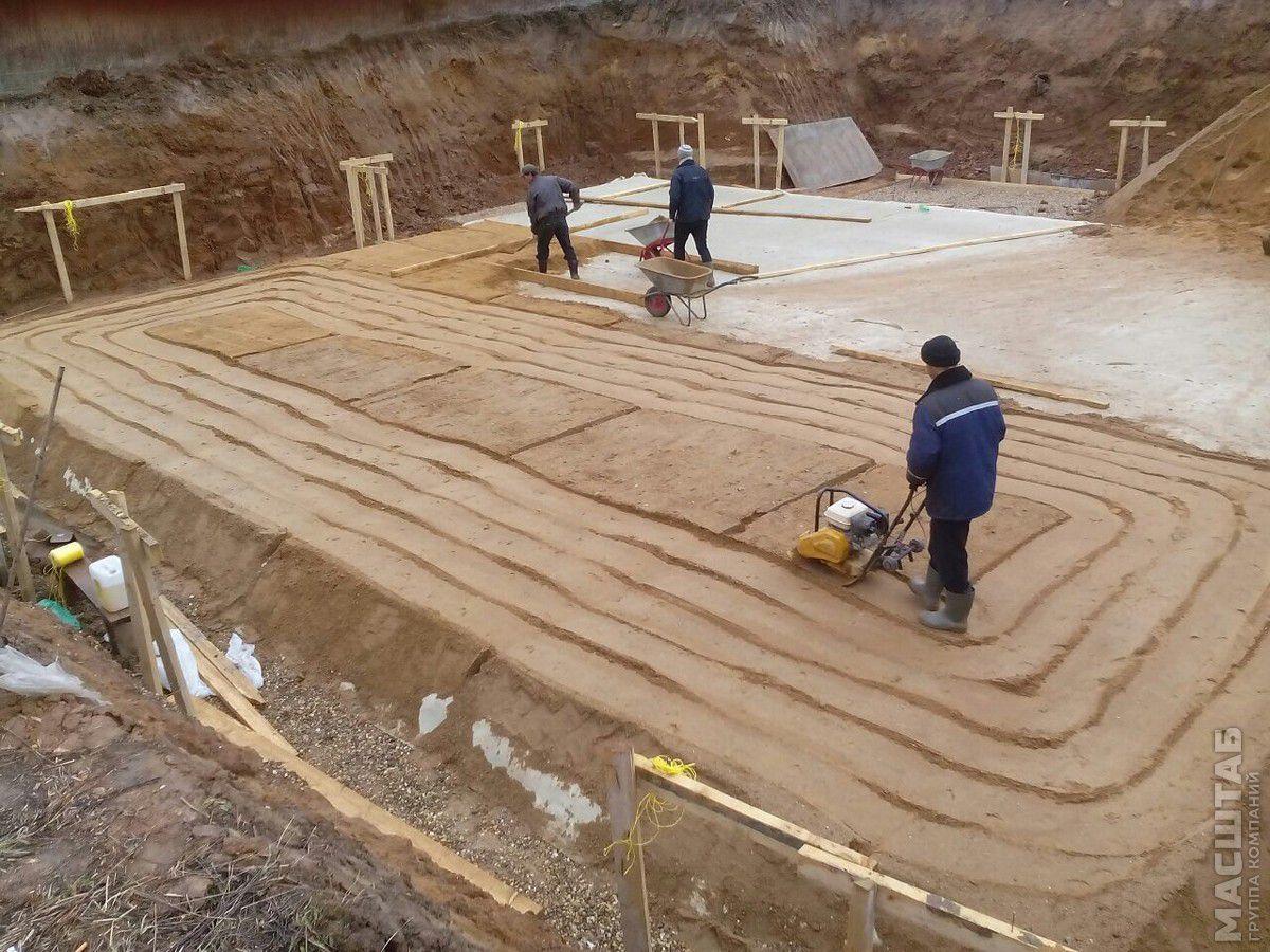 фундамент на песке для дома