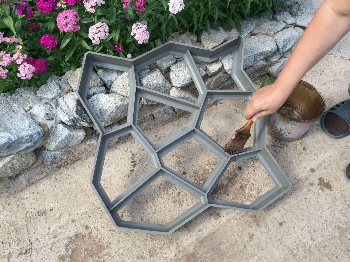 Форма для тротуарной плитки из пластиковых бутылок своими руками