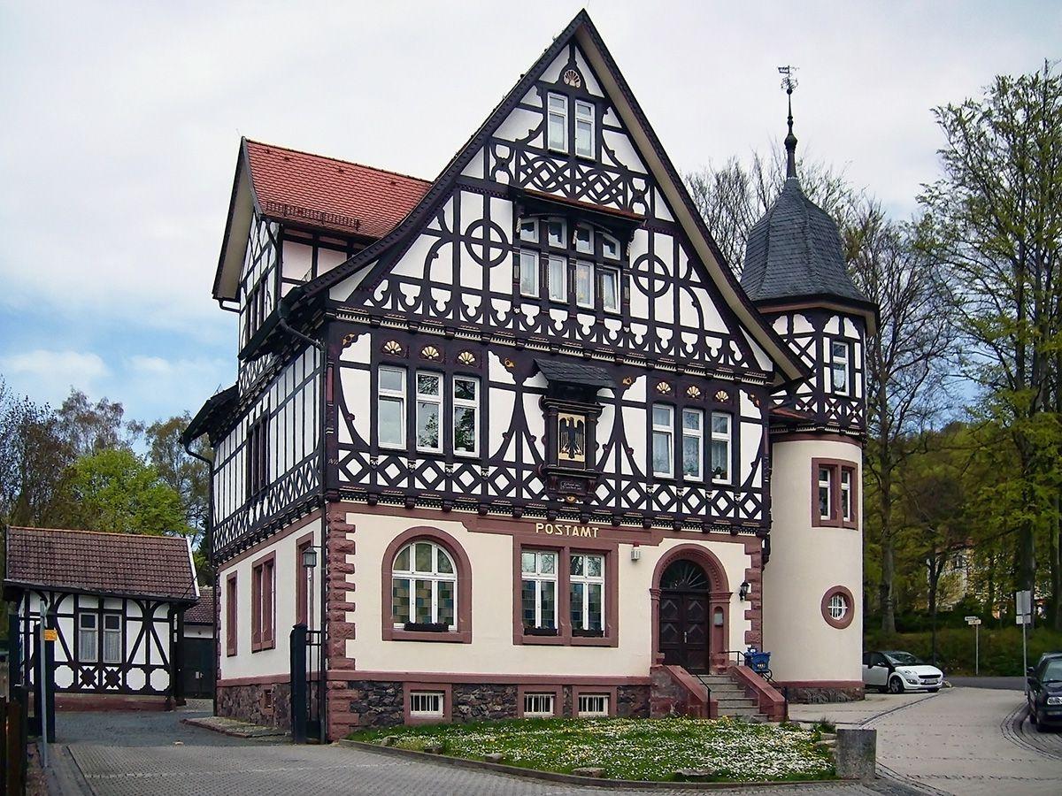 Старинный фахверковый дом