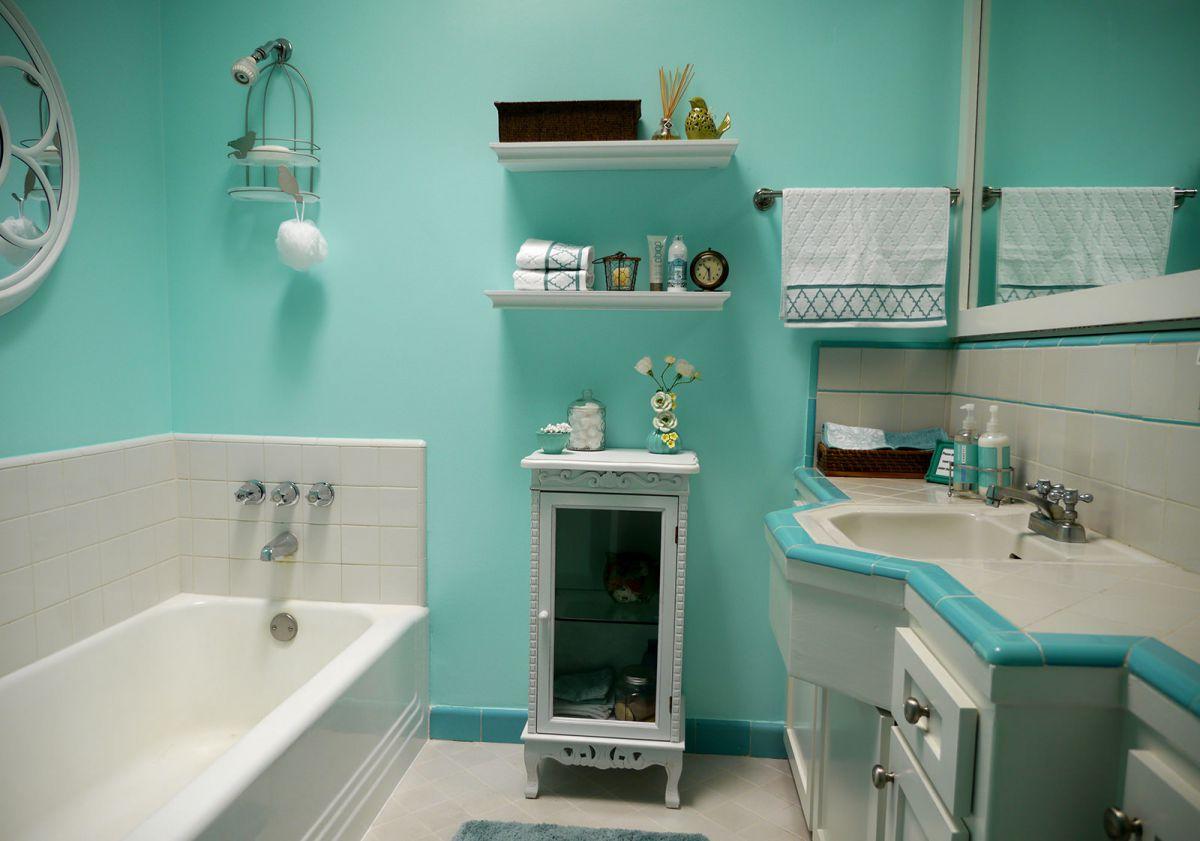Ванная комната – о красках и покраске стен 969