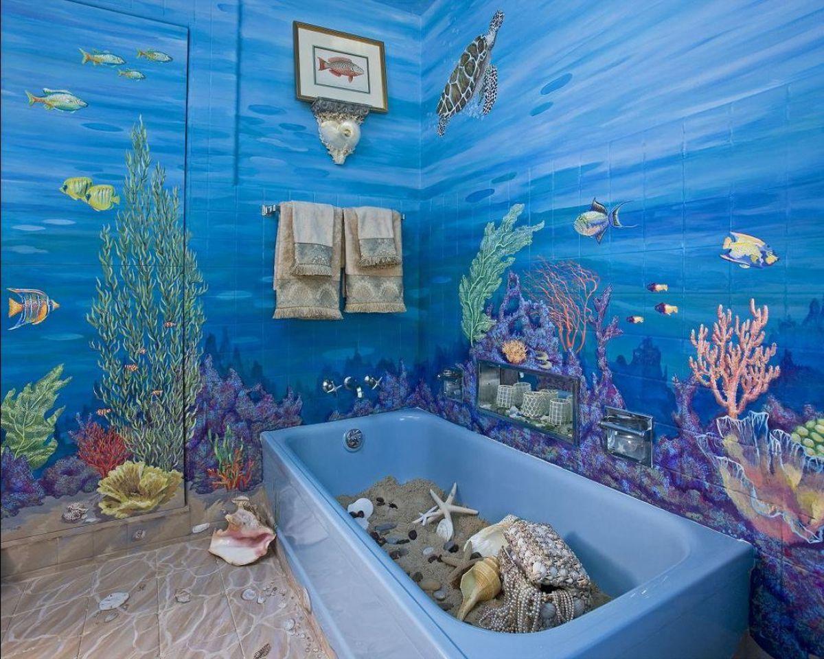 Ванная комната – о красках и покраске стен 972