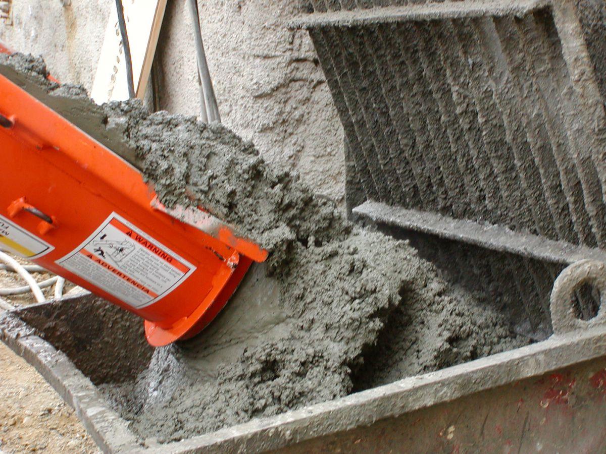 Бетон сварился объем воды для цементного раствора