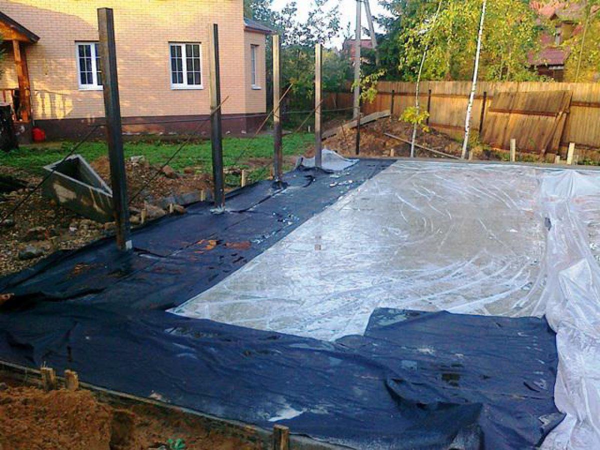 Приготовление бетона для ленточного фундамента - на своем участке. Температура бетонной смеси 1474
