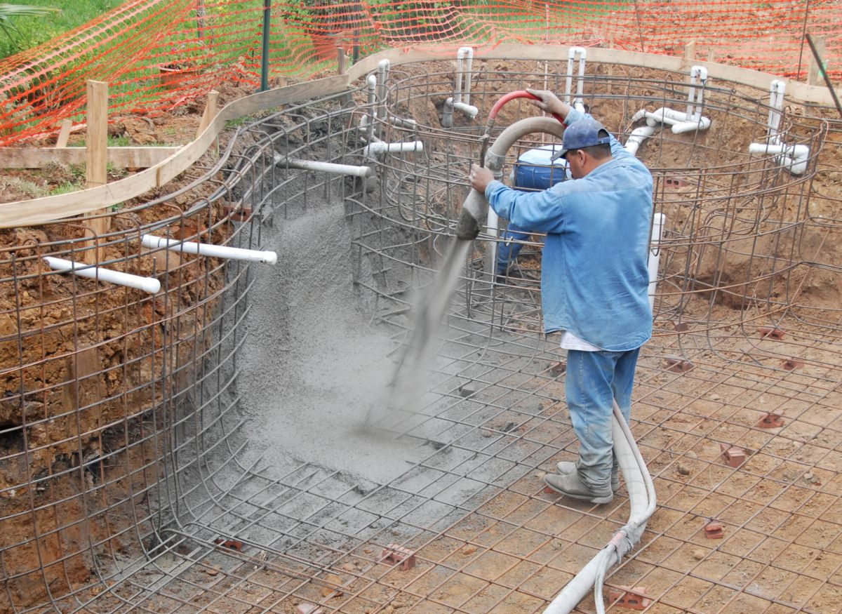Торкрет бетон - своими руками. Фундамент, арки, своды, реконструкция 1504