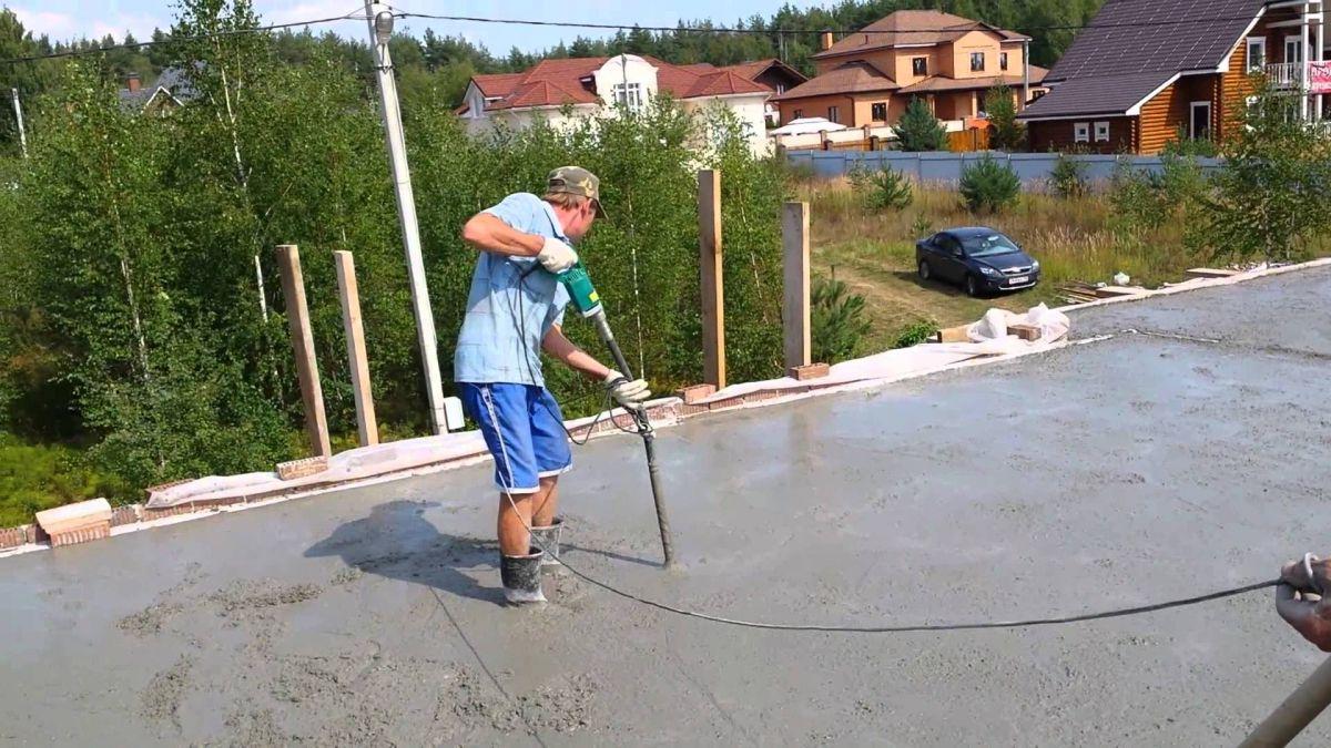 Укладка и уплотнение бетона  1612