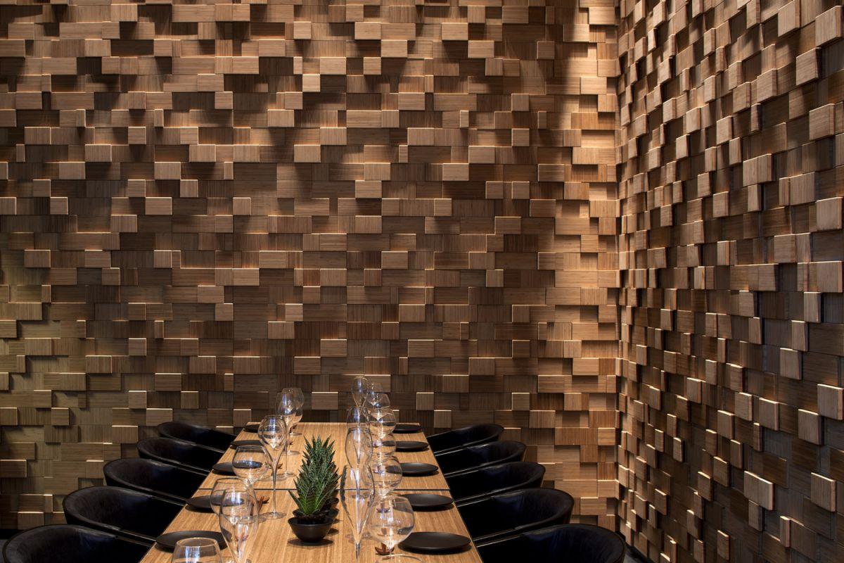 Облицовка стен…  деревянной плиткой 1744