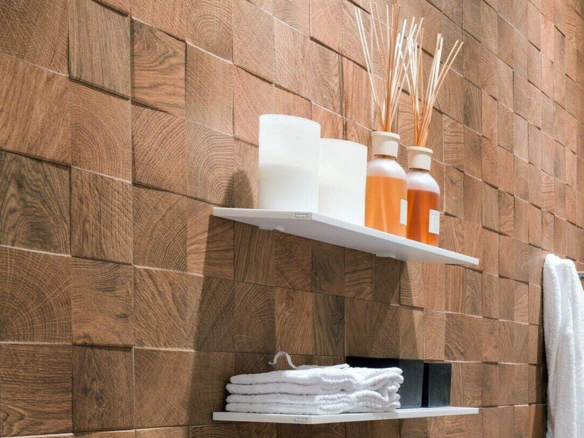 Облицовка стен…  деревянной плиткой 1765