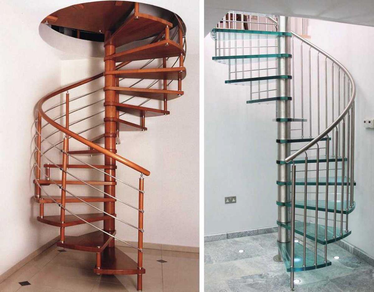 Лестница для коттеджа. Виды лестниц 2419