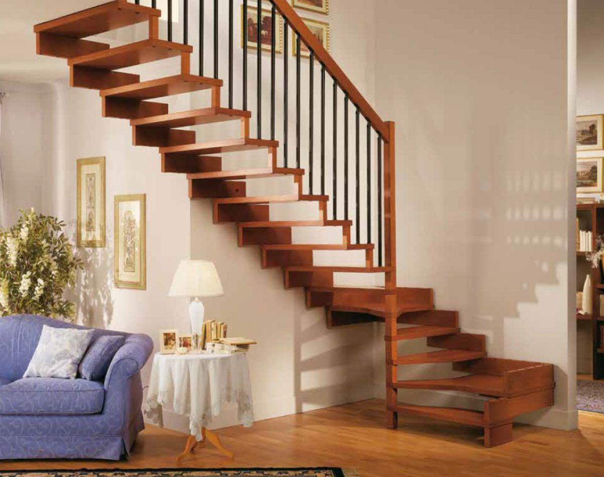 Лестница для коттеджа. Виды лестниц 2431