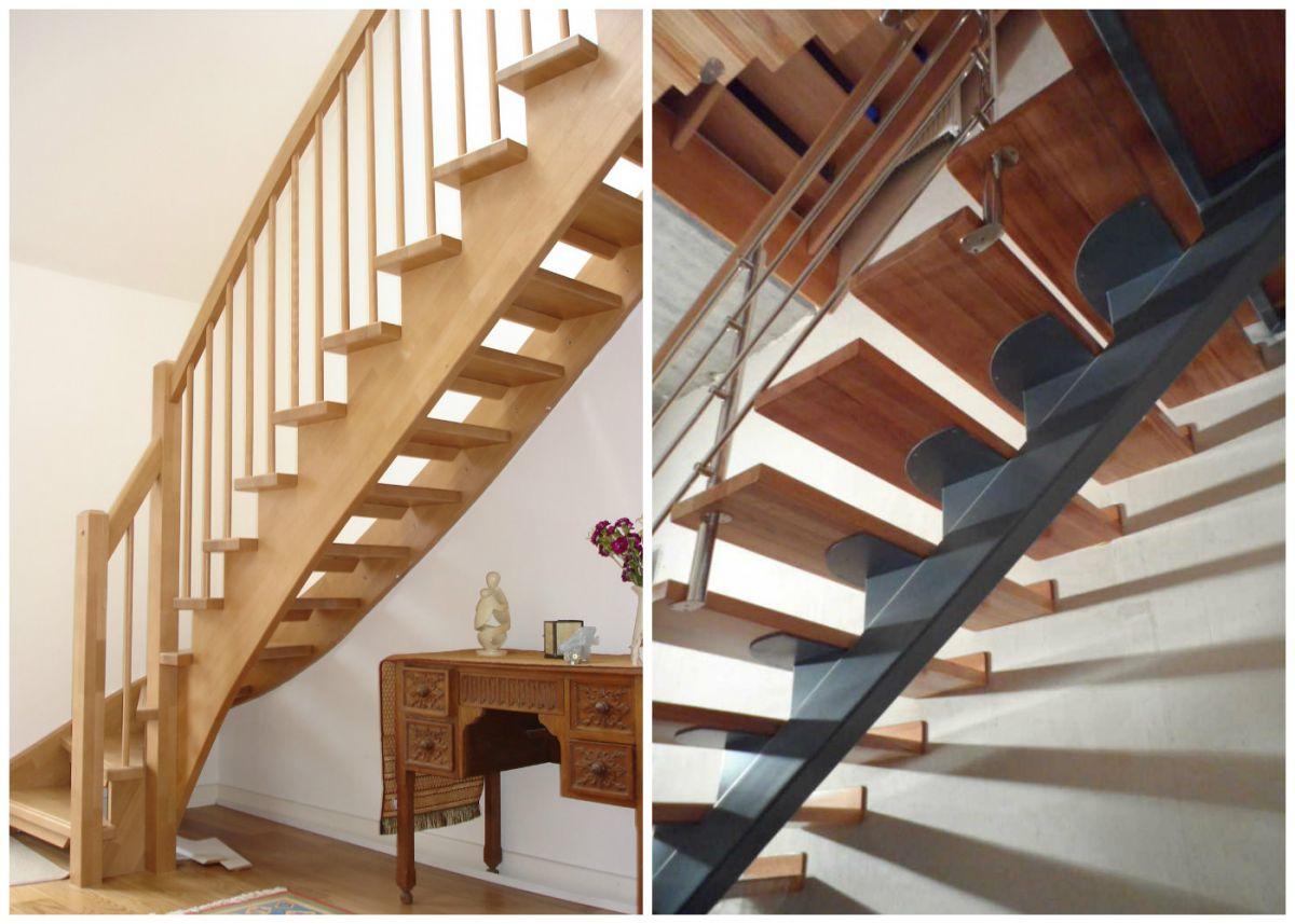 Лестница для коттеджа. Виды лестниц 2433
