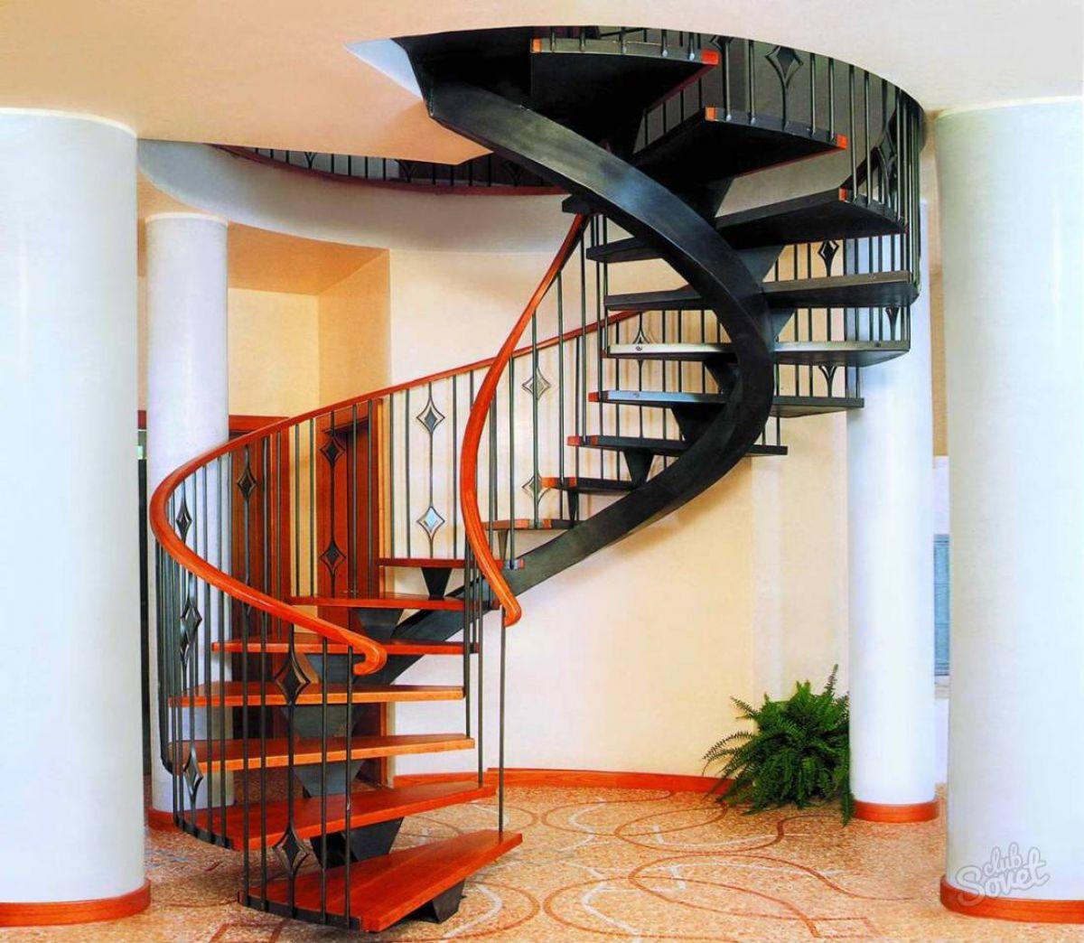 Лестница для коттеджа. Виды лестниц 2478