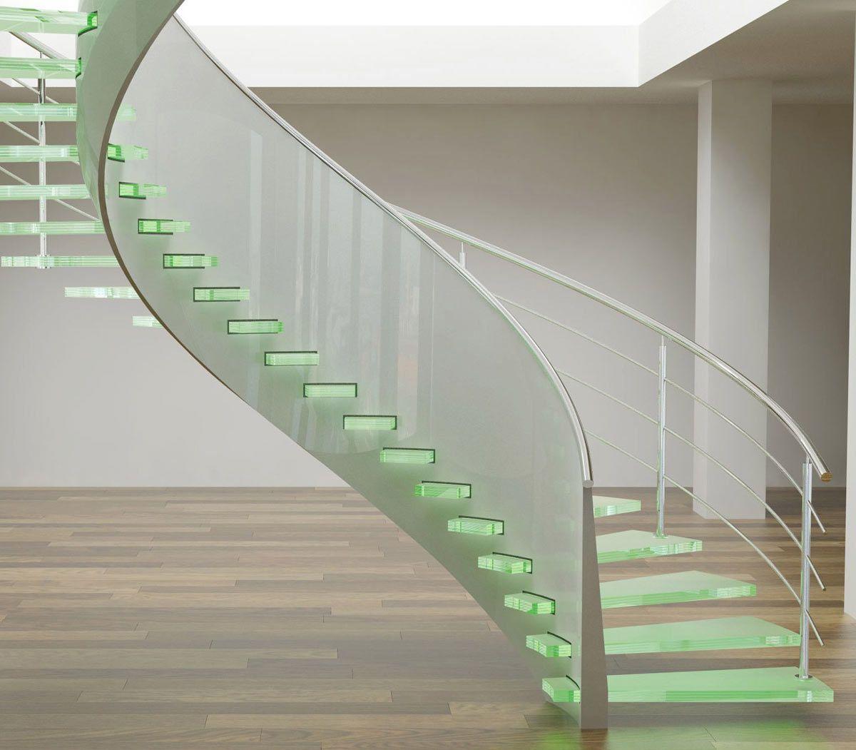 Стеклянная лестница в интерьере – изящество и надежность 2844