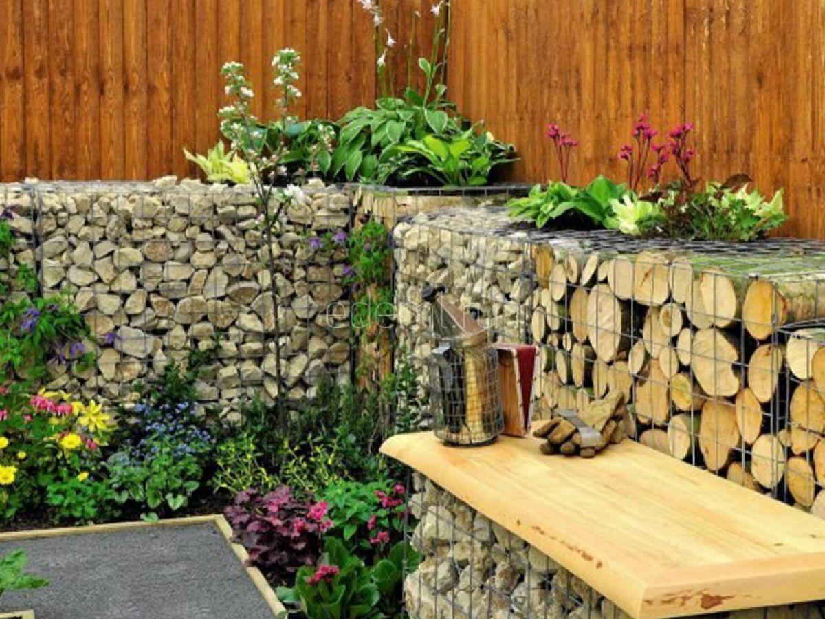 декоративный забор из камней на даче фото это