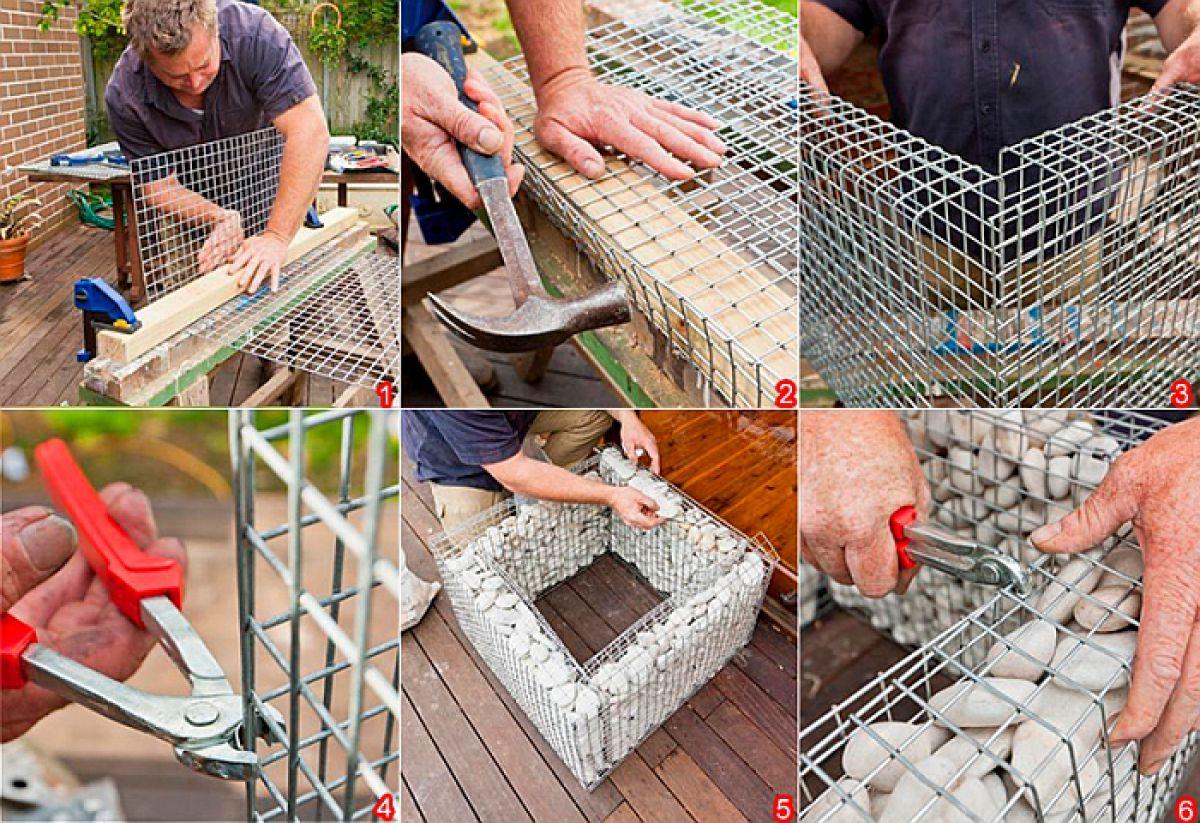 Как сделать габионы своими руками: подготовка материала и