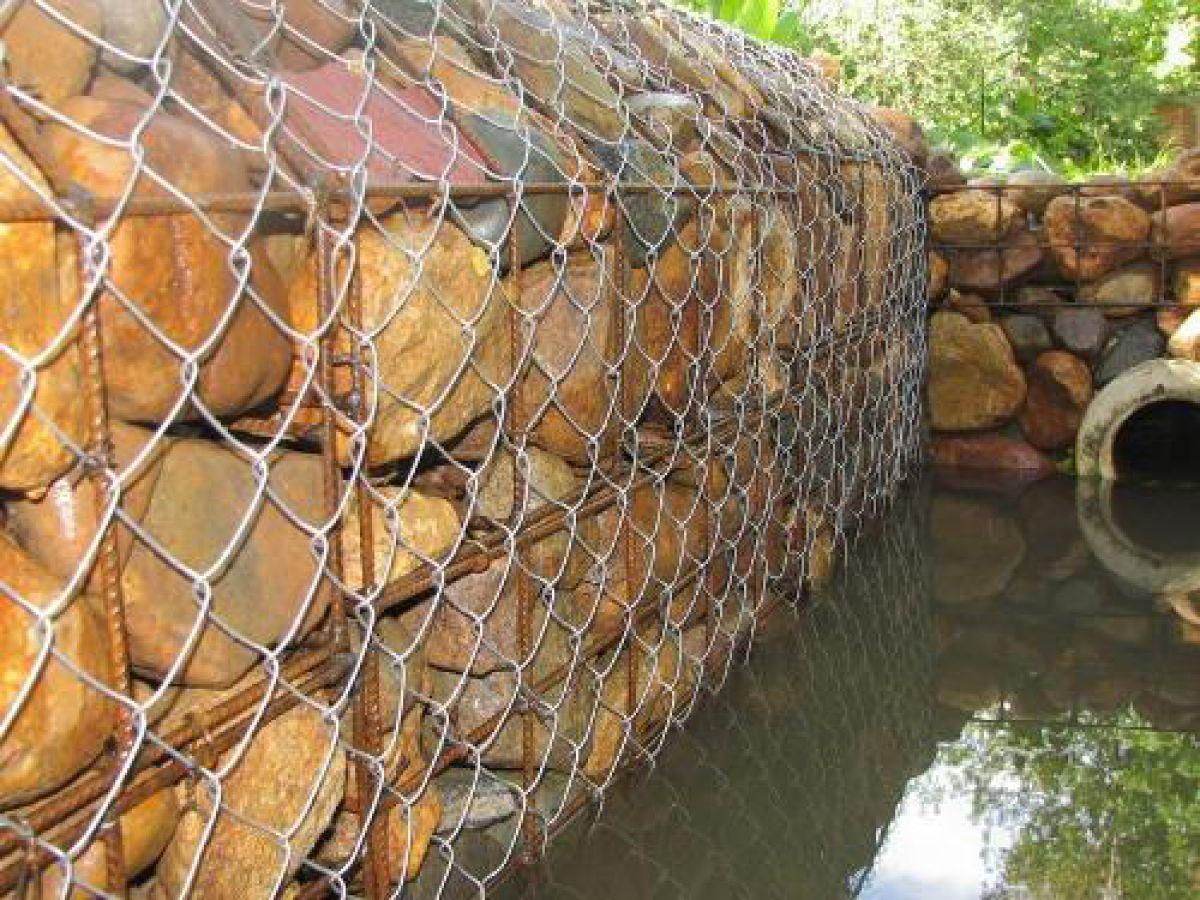 Габион – как ограждение, забор и подпорная стенка 2885