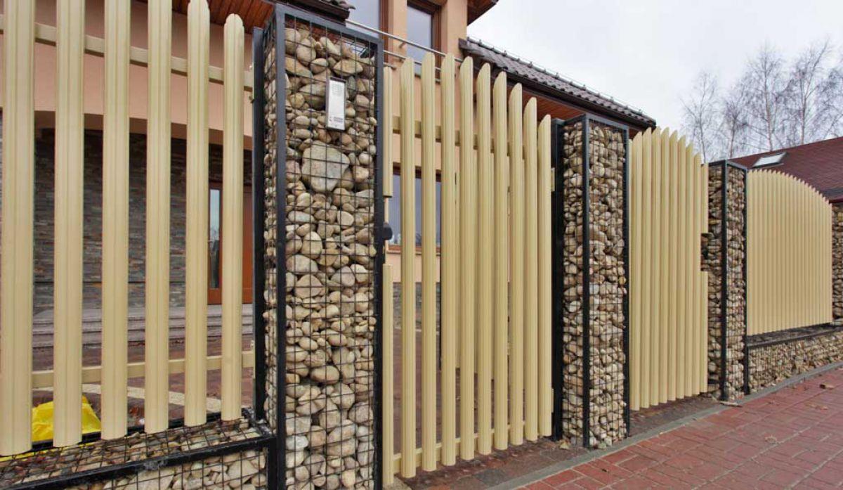 Габион – как ограждение, забор и подпорная стенка 2886