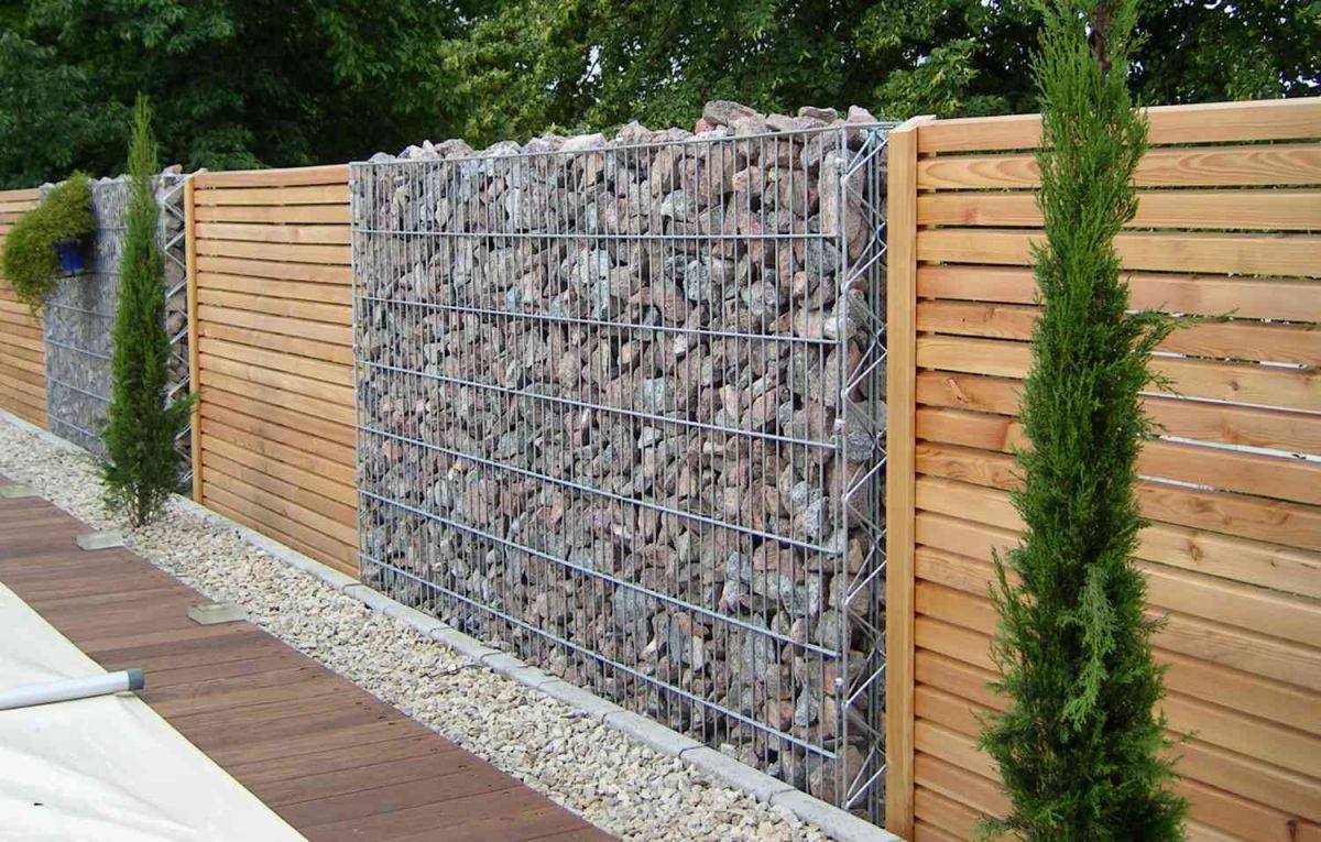 Габион – как ограждение, забор и подпорная стенка 2887