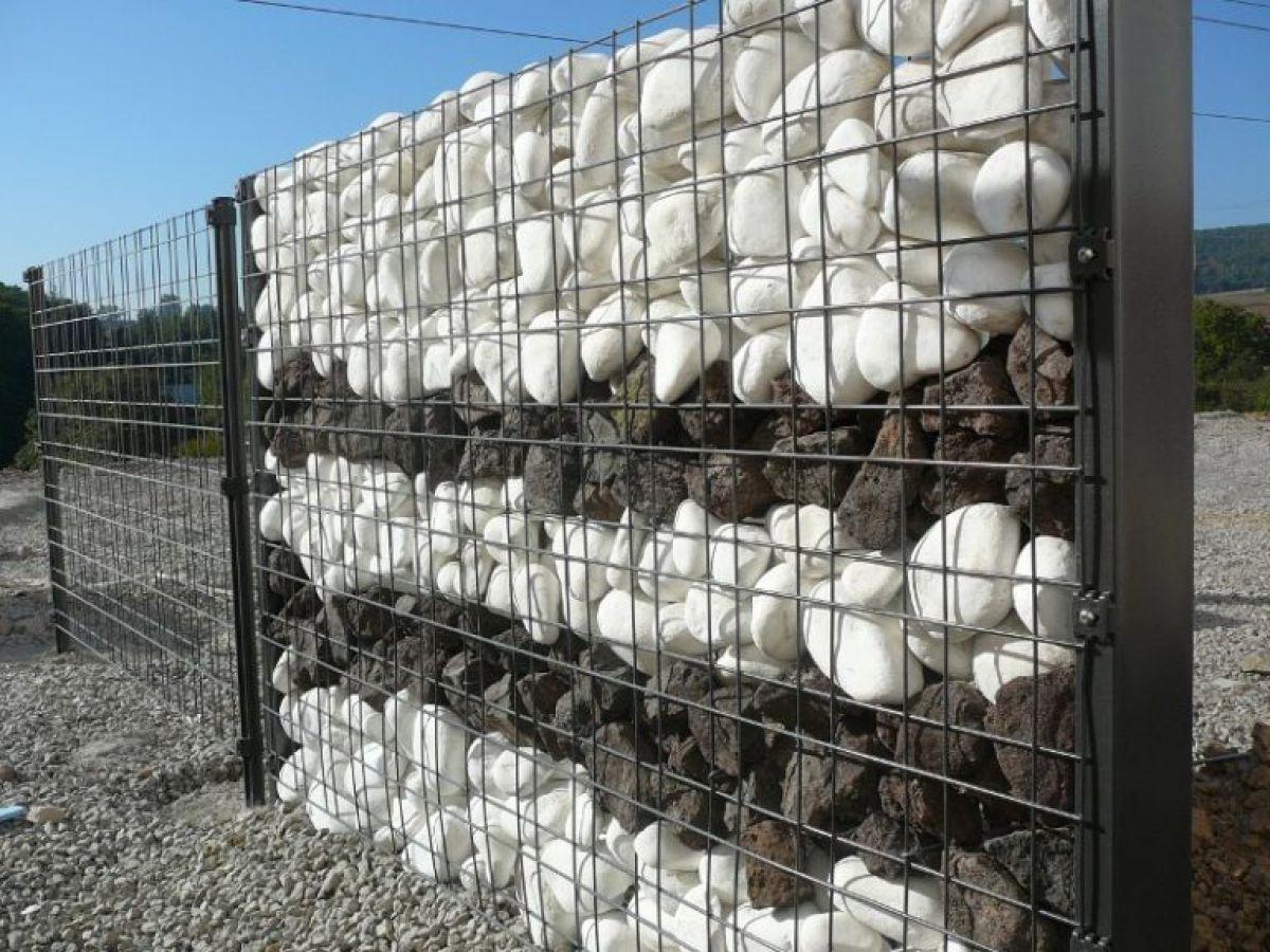 Габион – как ограждение, забор и подпорная стенка 2889
