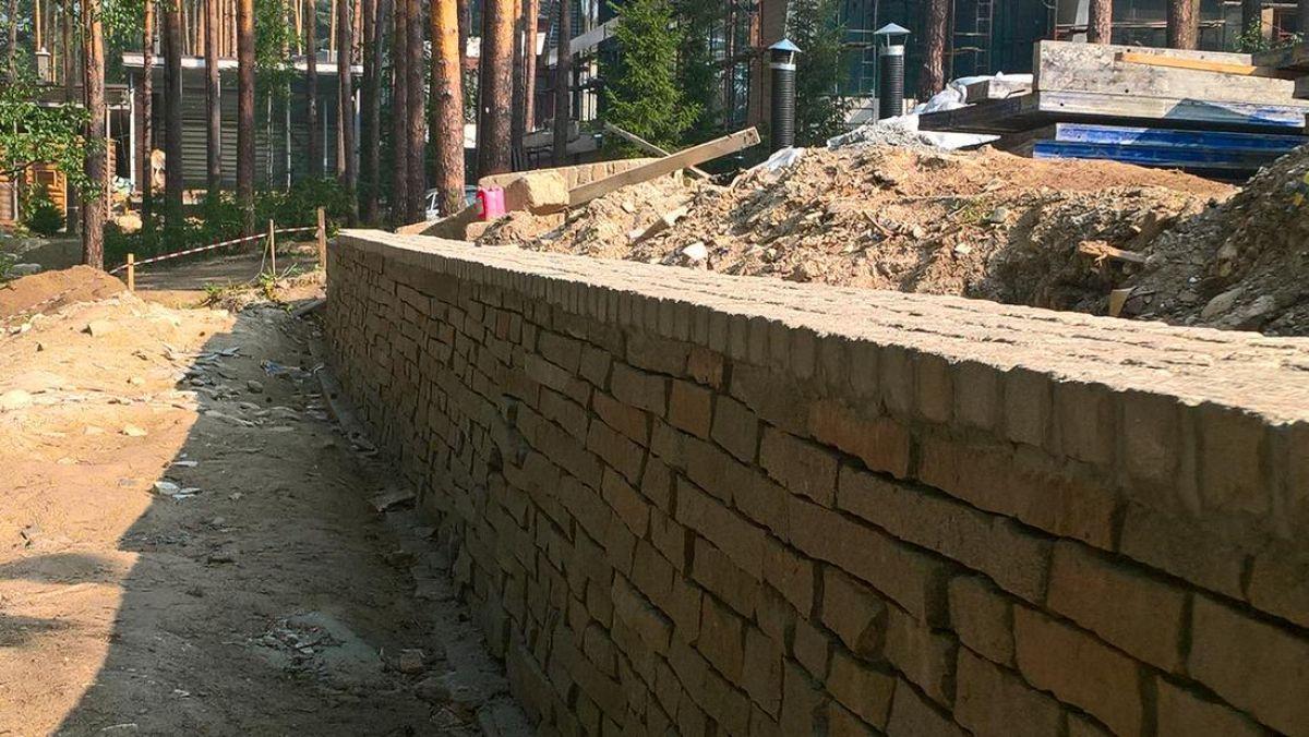 Подпорная стенка для участка с крутым рельефом. Виды подпорных стенок 2924