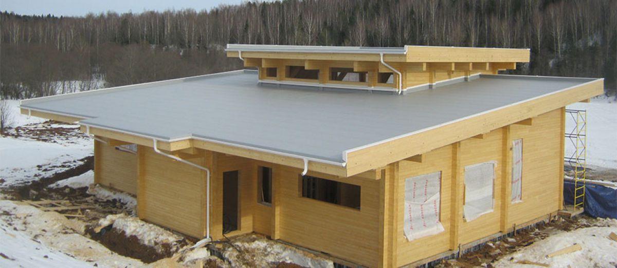 Плоская крыша для коттеджа 2961