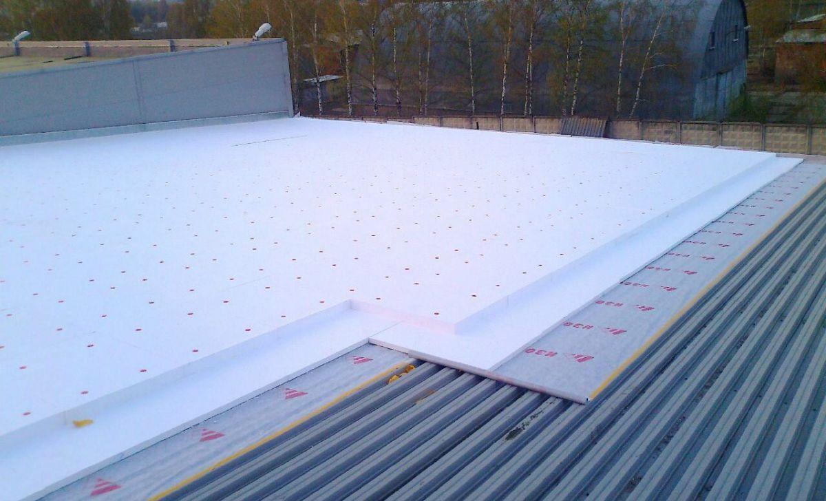 Плоская крыша для коттеджа 2984