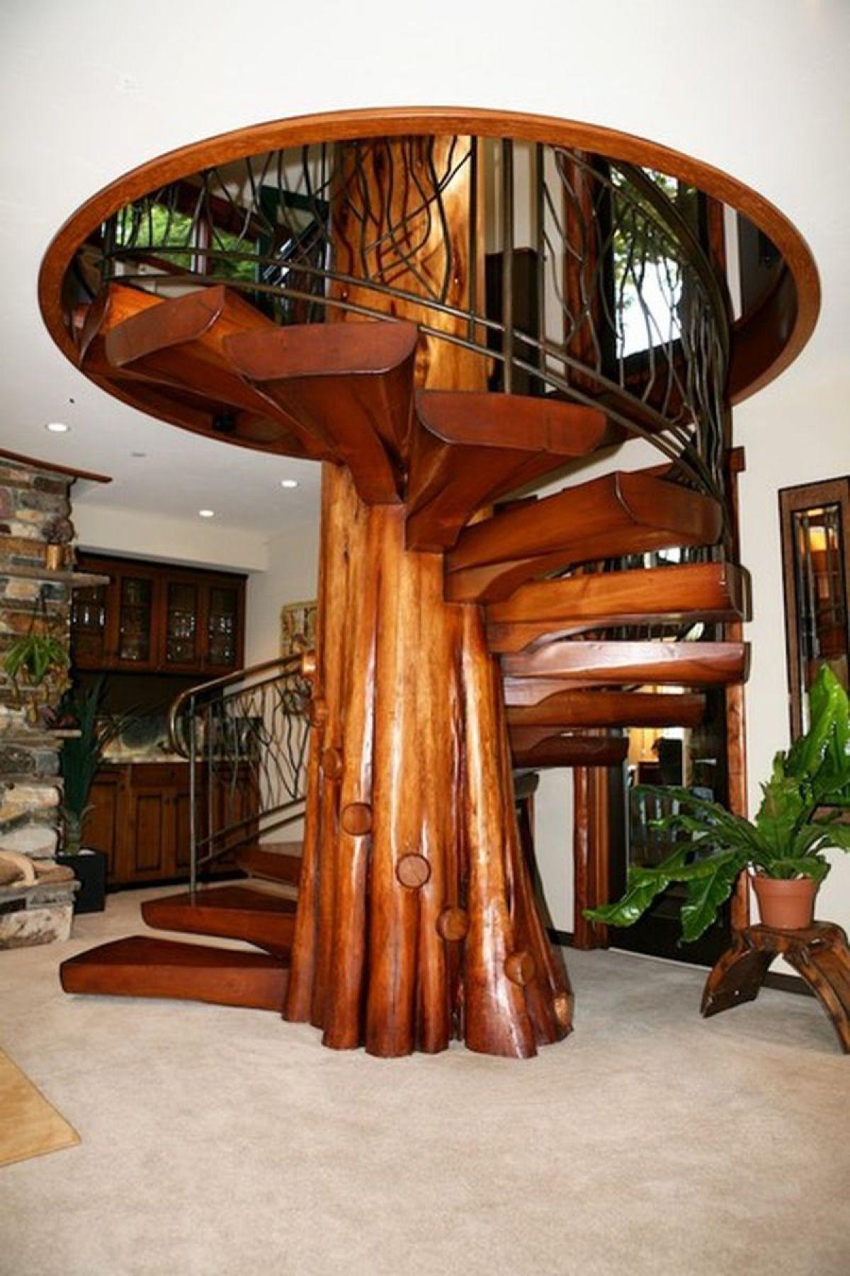 Винтовая лестница своими руками. Виды винтовых лестниц, плюсы и минусы 3404