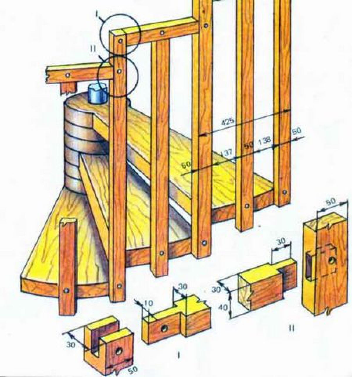 Винтовая лестница своими руками. Детали конструкции 3413