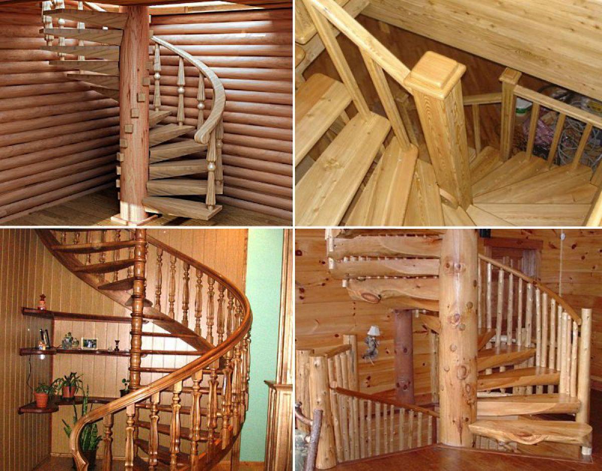 винтовые деревянные лестницы
