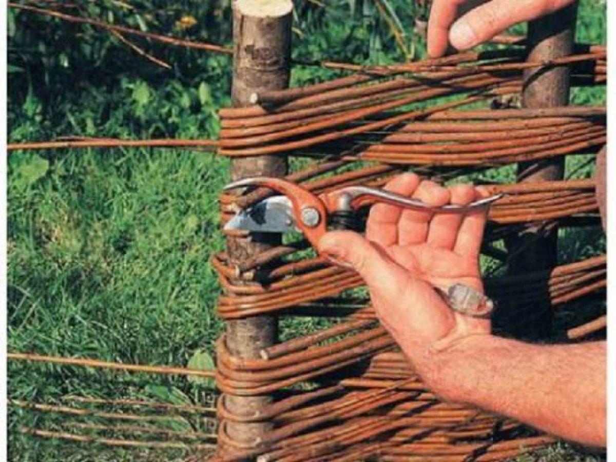 Своими руками плетеный забор из ветка