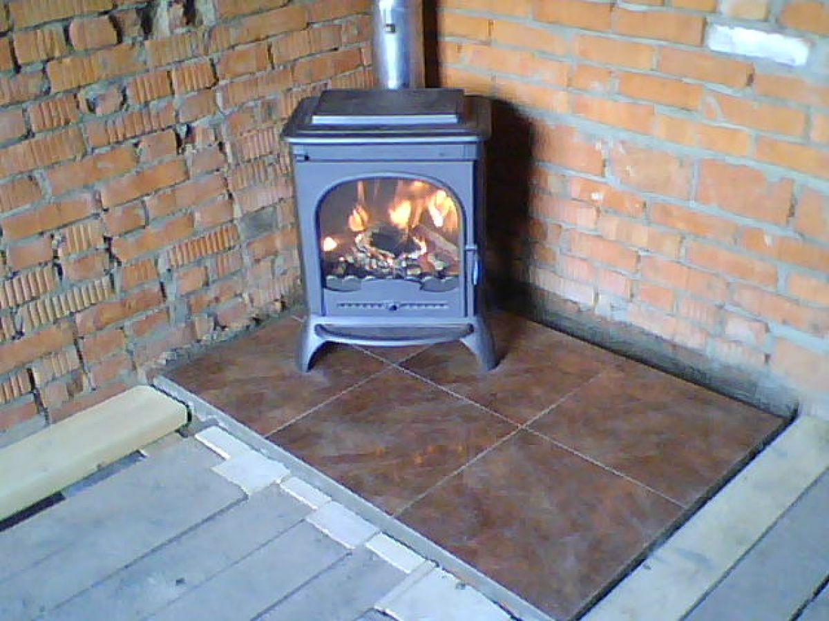 Установка печи в бане на деревянный пол - пошаговая инструкция! 31