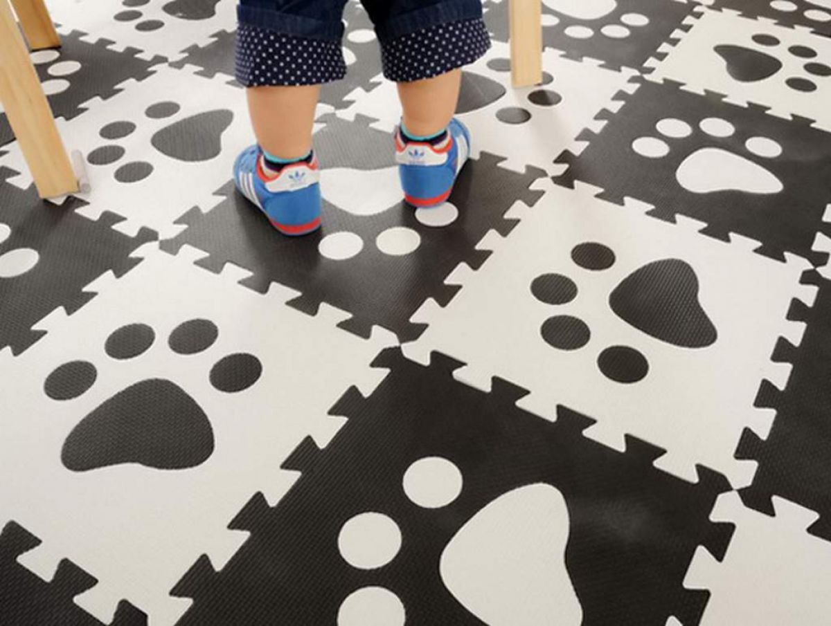Для детской комнаты – мягкий пол из этиленвинилацетатной плитки 3863