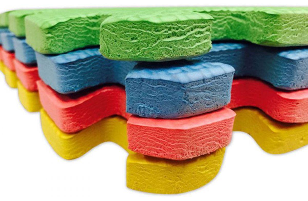 Для детской комнаты – мягкий пол из этиленвинилацетатной плитки 3868