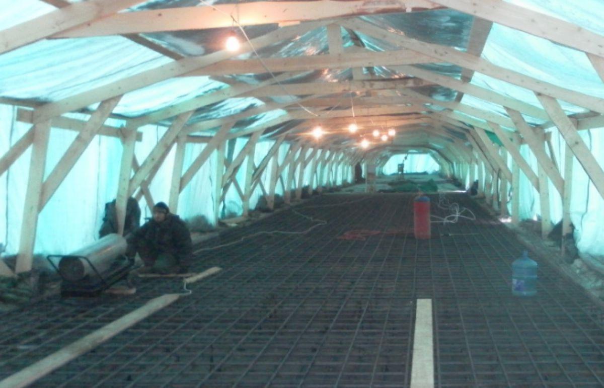 Бетонирование на частном участке зимой. Прогрев бетона – основные способы. Способ термоса 3926