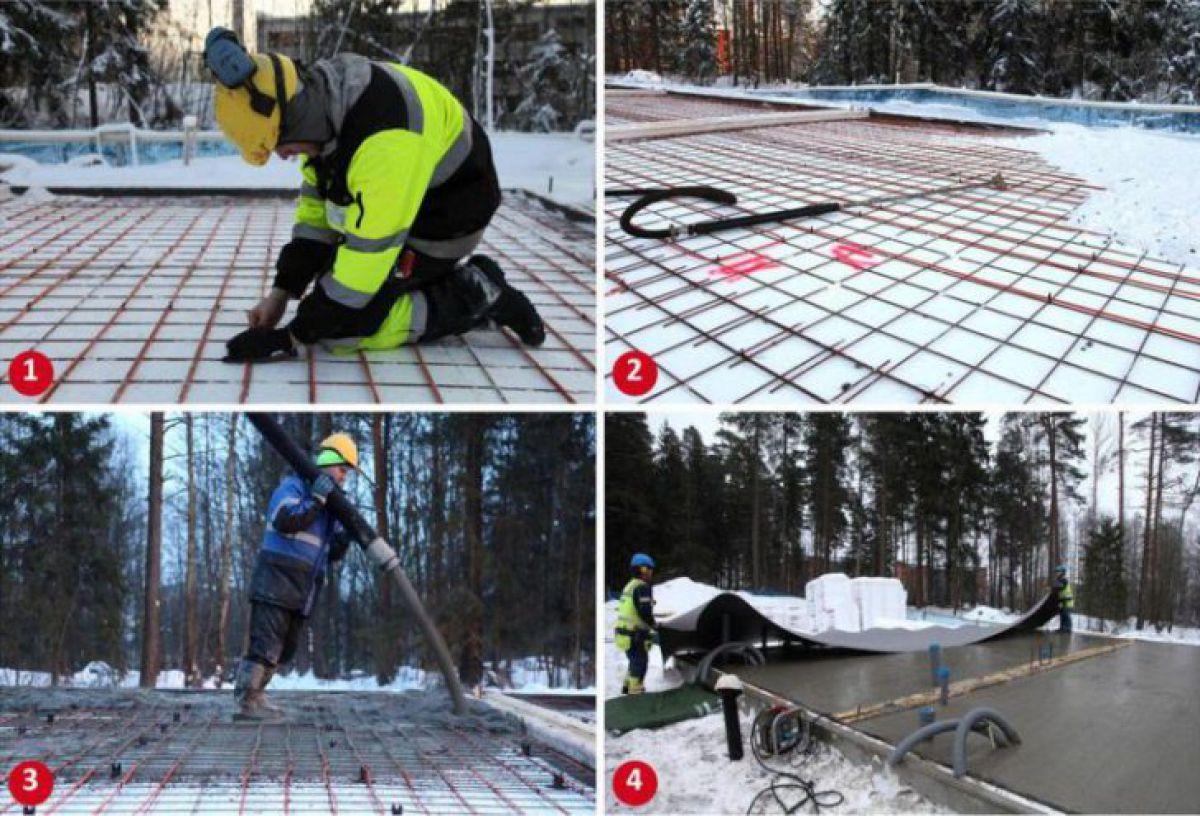Бетонирование на частном участке зимой. Прогрев бетона – основные способы. Прогрев проводом 3960