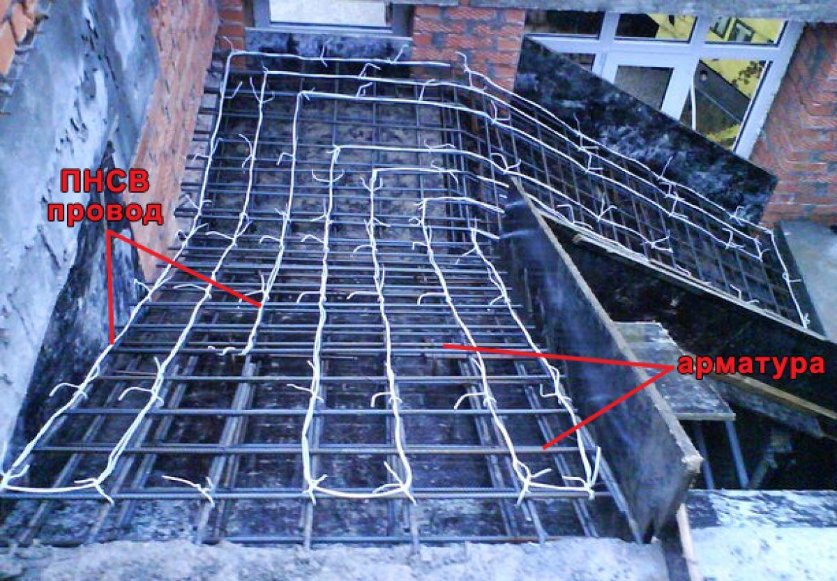Бетонирование на частном участке зимой. Прогрев бетона – основные способы. Прогрев проводом 3963
