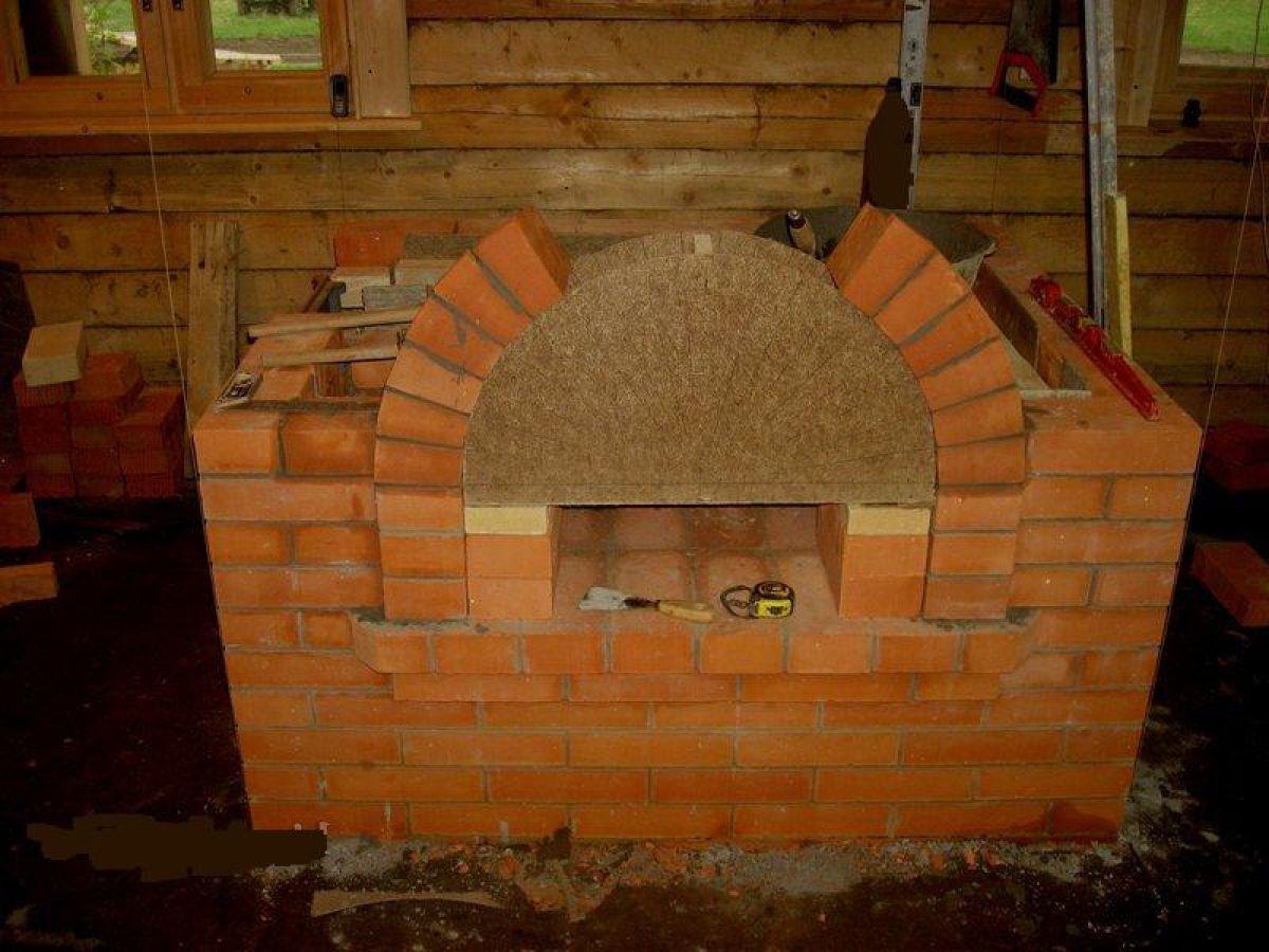 Камин в доме своими руками. Фундамент, кирпичная кладка, дымоход и отделка 3966