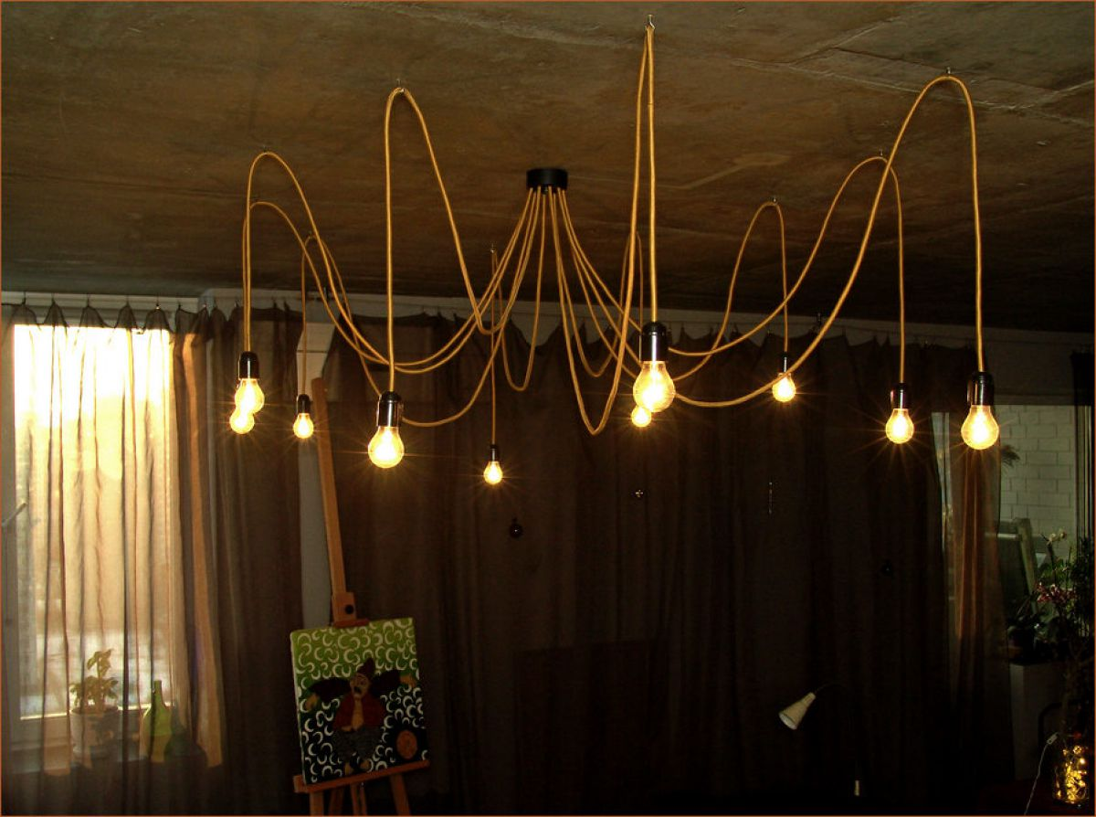 Светильники на шнурах своими руками 50