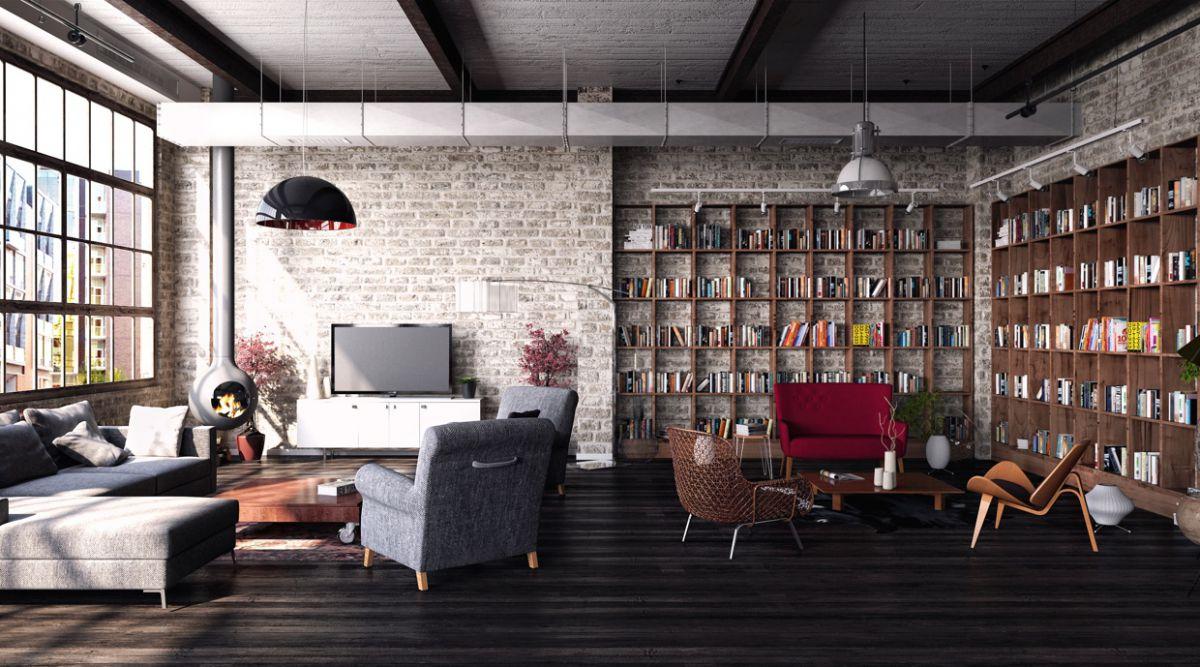 Индустриальный интерьерный стиль – для людей креативных 4026