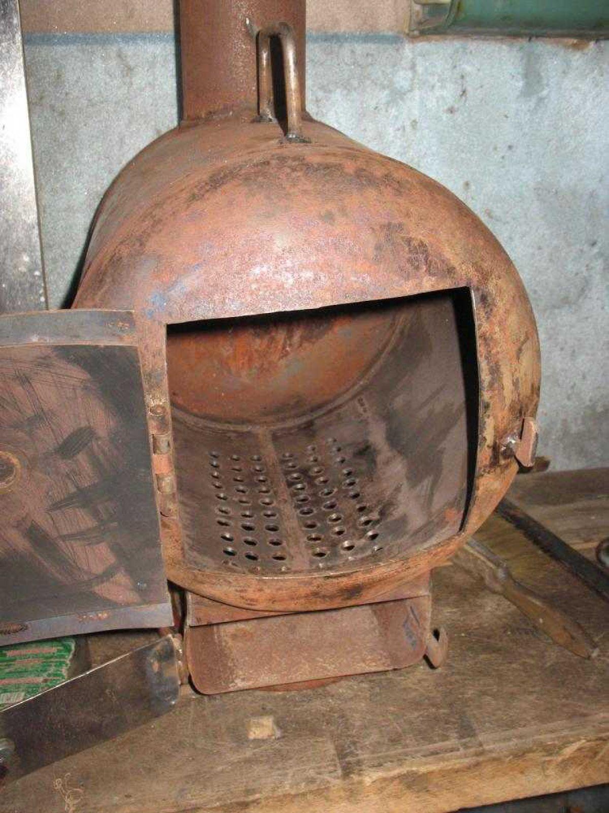 Печь на дровах своими руками из газового баллона