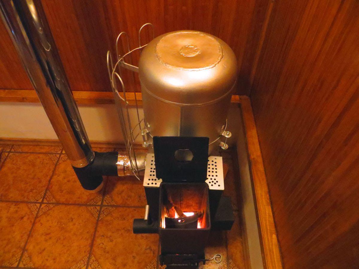 Реактивная печь или буржуйка своими руками из газового баллона 4222