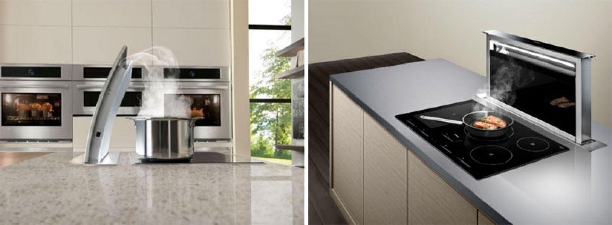Современные вытяжки в кухонных интерьерах. Виды и выбор вытяжки  4282