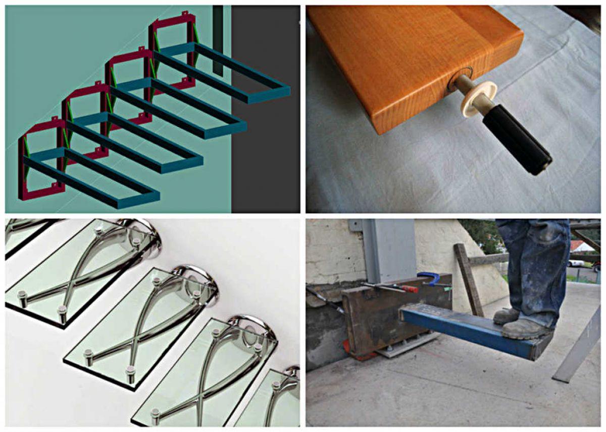 Консольная лестница для коттеджа. Особенности, виды, материалы 4336