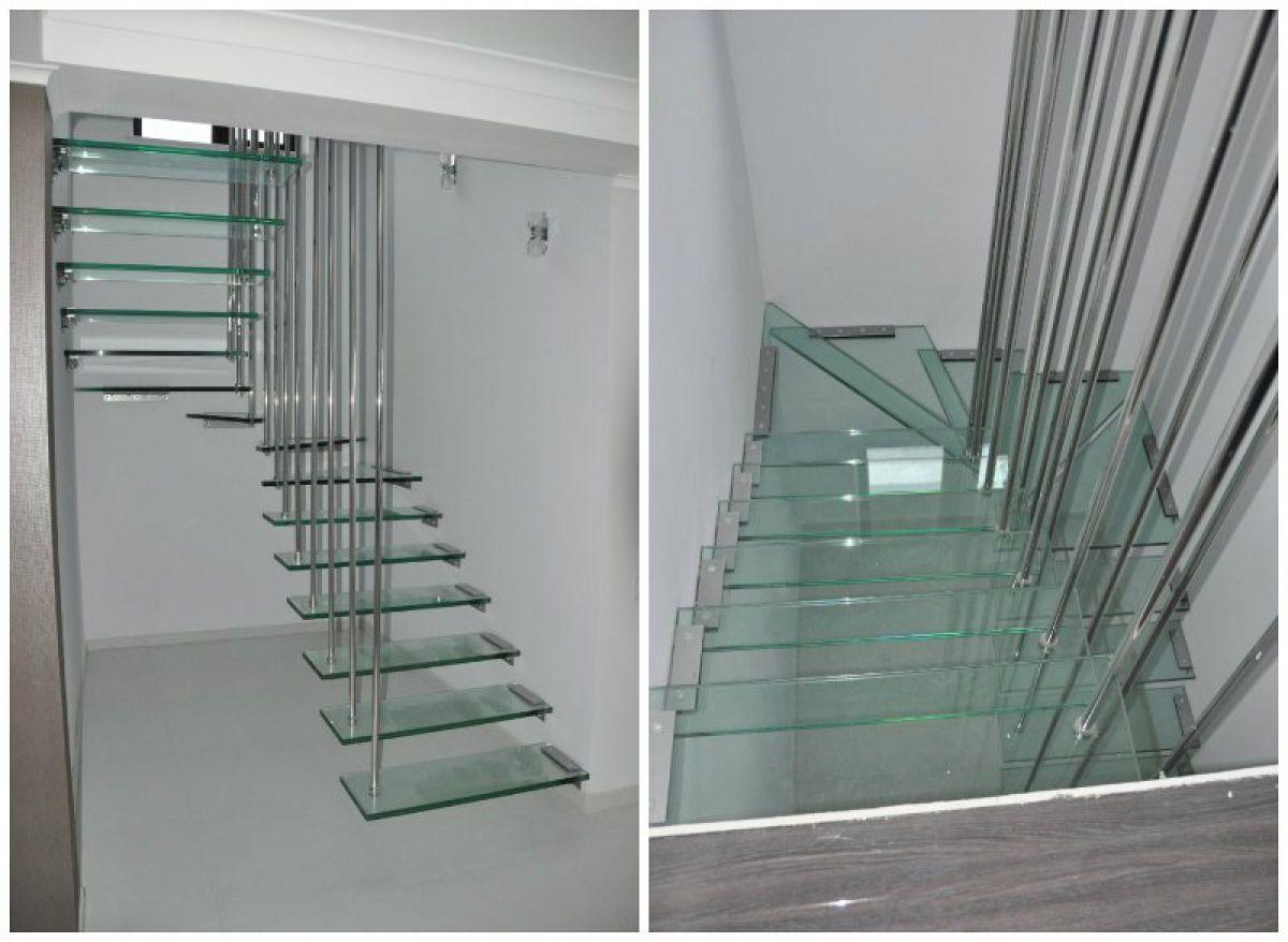 Консольная лестница для коттеджа. Особенности, виды, материалы 4338