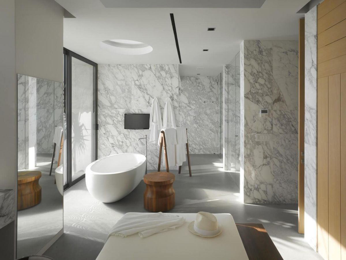 Дизайн ванной комнаты 2018. Фото, новинки и идеи современного дизайна ванной комнаты в 2018 году 4384