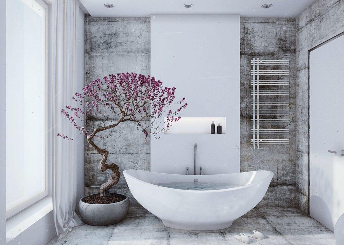 Дизайн ванной комнаты 2018. Фото, новинки и идеи современного дизайна ванной комнаты в 2018 году 4385