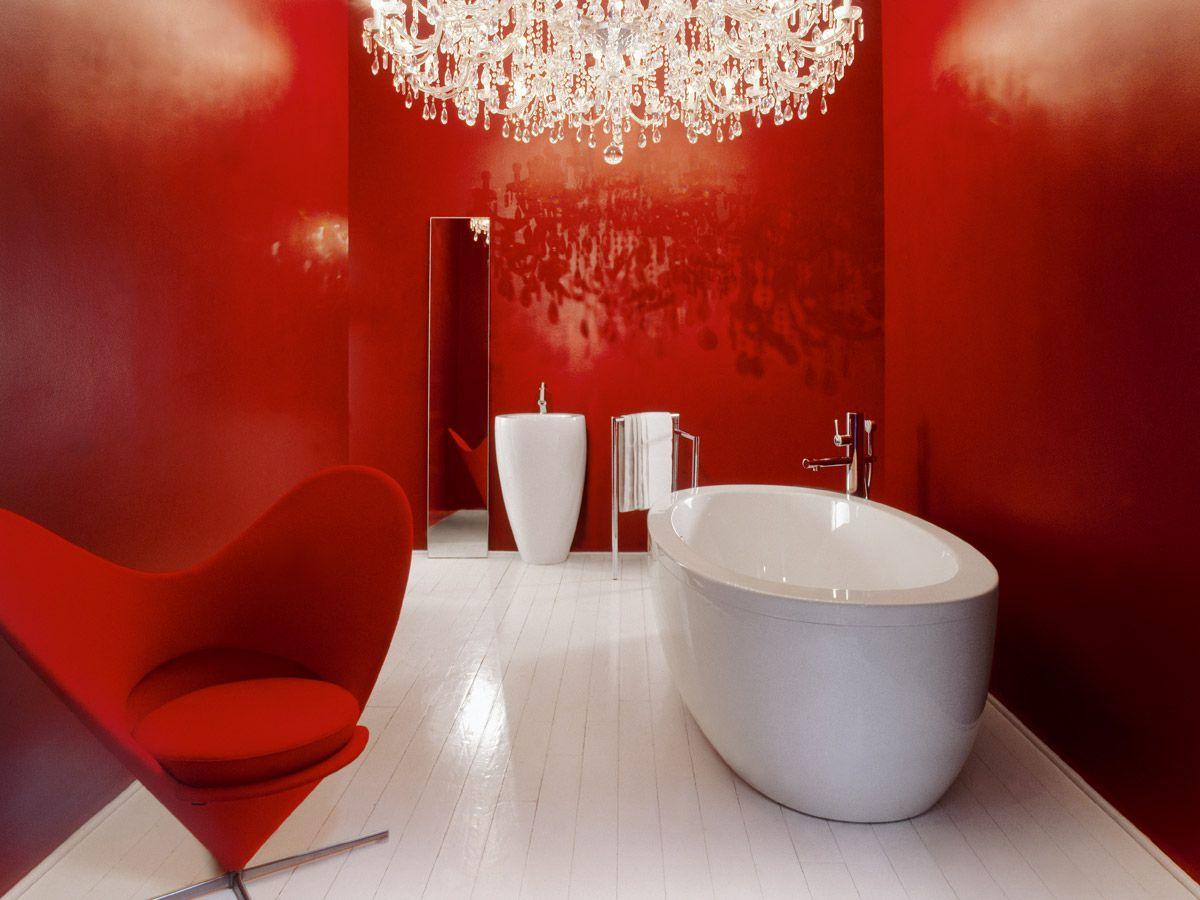 Красный цвет в интерьере - энергия, эмоции, праздник 4424